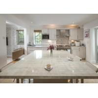 White Color Natural Quartz Countertops / Waterfall Island Countertop Manufactures