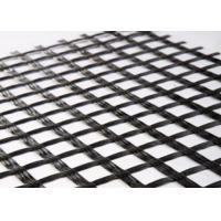 80KNM Black Fiberglass Geogrid Manufactures