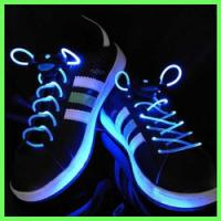 White Nylon LED Flashing Shoelace Manufactures