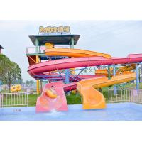Outdoor Spiral Slide Water Pool Slide Playground For Amusement Park Manufactures
