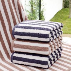 wholesale 100% cotton striped hotel bath towels Manufactures