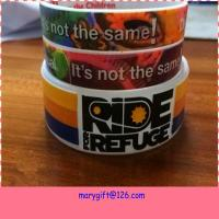 new design wide hot silicone bracelet band with CMYK printing Manufactures