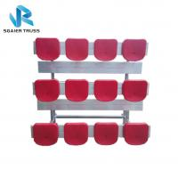 China Straight 5 Row Bleachers , Fireproof Portable Aluminum Bleachers With Foot Pads / Plastic Seats on sale