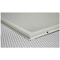 Hot Sale Aluminum Perforated Ф1.8 Suspended Lay In Ceiling Tile in White