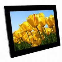 High-resolution LCD Screen Digital Photo Frame with Built-in Loudspeaker and Optional Memory Manufactures
