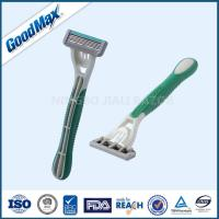 Rubber Handle Five Blade Razor Stainless Steel Blade For Body Face Underarm Manufactures