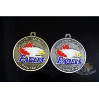 Eagle'S Head Design Metal Awards Medals And Ribbons Sandblasted Effect,Zinc alloy Medals Manufactures