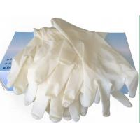 Commercial Disposable Latex Examination Gloves Textured Powder Free  1.5 AQL Manufactures
