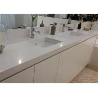 White Artificial Stone Bath Vanity Tops With Sink Eased Edges Manufactures