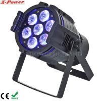 5 in1 15W RGBWA 7PCS LED Par Can Stage Lights , 15 ~ 40 degree Beam Angle Manufactures