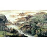 Quality Water base chinese traditional landscape watercolour wall decoration painting for sale