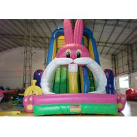 Playground Funny Inflatable Dry Slide , Outdoor Multicolor Inflatable Animals Slide Manufactures