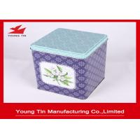 China Tin Material Square Metal Storage Tins With Lids 0.23 MM Grade - A  Tinplate on sale