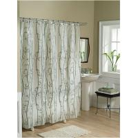 Floral PVC Polyester Shower Curtain for Window For Bath Use , Waterproof Manufactures