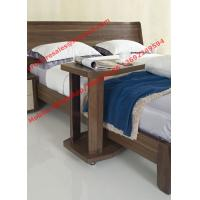Quality Walnut wood home bedroom furniture sets by curved headboard bed and full mirror for sale
