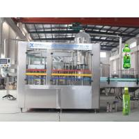 Tea Washing Filling Capping Machine Fruit Juice Bottling Plant For PET Bottles , Long Lifetime Manufactures