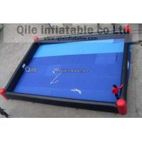 Double Layer Bottom Inflatable Soccer Field Giant Football Playground for School Use Manufactures
