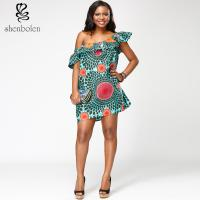 Batik wax  African print dress  Ankara  sleeveless XS-XXXL  wholesale ladies'  boutique Manufactures