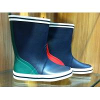 China Waterproof Fashional Half Womens Rubber Rain Boots With Blue on sale