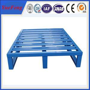 Euro heavy duty aluminum flat pallets manufacturer, aluminium pallet with blue color Manufactures
