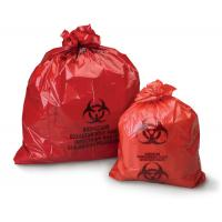 China 50microns thickness HDPE LDPE red  yellow plastic biohazard medical waste bags for hospital on sale