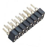 2.54 Mm Machined Female Round Pin Header Connector 180°DIP PPS 30%GF Manufactures