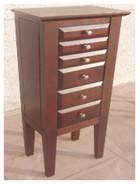 Brown Color Wooden Jewelry Box Moisture Proof With Sturdy / Durable Frame Manufactures