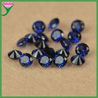 factory high quality 1.5mm round cut synthetic 34# blue sapphire corundum gemstone price Manufactures