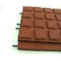 Quality Eco Friendly Children Rubber Mat Flooring Outdoor Red Safety for sale