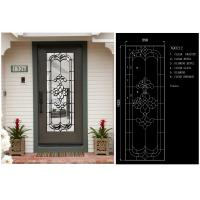 Visual Texture Decorative Bathroom Window Glass , Custom Glass Window Panels Obscurity Manufactures