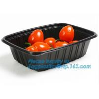 OEM and ODM custom plastic 2100ml pp 4 compartment plastic food box,disposable food container, plastic plate, plastic cu Manufactures