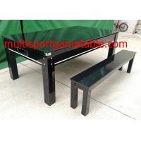 China 7FT Pool Game Table Dining Table Bench Wood Dinning Billiard Table wholesale