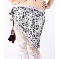 Delicate Louver Beruffled Belly Dancing Hip Scarves , Belly Dance Practice Wear Manufactures
