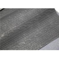 Carbon Black PU Washed Leather Handfeeling No Fading For Clothing Fabric Manufactures