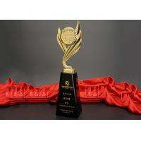 China Globe Metal Trophy Cup / Event Souvenirs With Black Crystal Base on sale
