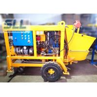 Diesel Engine Concrete Pumping Equipment With Concrete Hose 15m3/H Output Manufactures