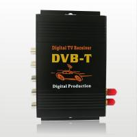 CAR DVB-T MPEG-4 Double tuner Digital TV receiver Dual -tuner TV Box with multi language Manufactures