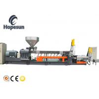 China Pet Bottle Flakes Twin Extruder Machine Plastic Recycling Granulating on sale