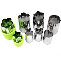 Vegetable Cutters Shapes Set (8 Piece) - Cookie Cutters Fruit Mold Cheese Presses Stamps for Kids Shaped Treats Food Manufactures