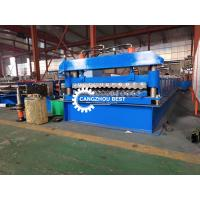 China PPGI Corrugated Mental Roofing Sheet Roll Forming Machine With High Speed on sale