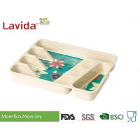 Professional Restaurant Use Bamboo Lunch Trays Non - Toxic Environmental Friendly Manufactures