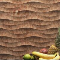 China Natural stone 3d wavy textured wall cladding tile on sale