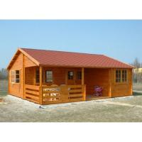One Floor Outdoor Wooden House In 36mm 72mm 110mm Wall thickness Manufactures