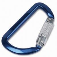 China Aluminum Carabiner with Triple Auto Lock Feature on sale