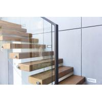 Clear glass railing floating stair Manufactures
