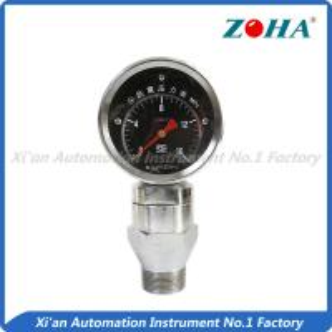 China Shock Resistance Slurry Pressure Gauge , Mini Liquid Filled Pressure Gauge on sale