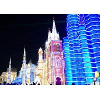 China True Proportion Modern High-Rise Building Lantern Display Festival on sale