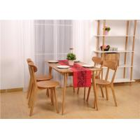 China Hardwood Oak Dining Table And Chairs , High Standard Rectangle Formal Dining Room Sets on sale