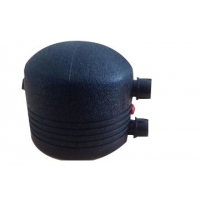 Screw Injection Molding Electrofusion Cap HDPE Pipe Fittings