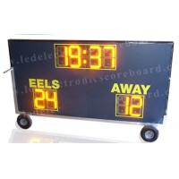 Waterproof Multi Sport Scoreboard , Football Field Scoreboard With Wheel Stand Manufactures